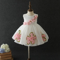 1 Year Old Birthday Baby Girl Dresses Ball Gown Flower Cute Party Love Formal 2019 Toddler Little Girls Clothes RBF194015