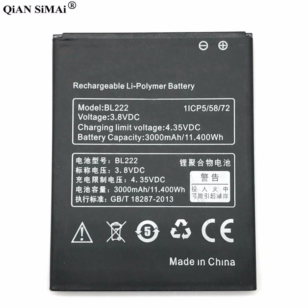 2019 New <font><b>BL</b></font> <font><b>222</b></font> BL222 Battery For lenovo S660 S668T 3.8V 3000mAh high capacity Mobile Phone Replacement Rechargeable ion image