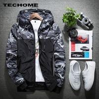Men Bomber Jacket Thin Slim Long Sleeve Camouflage Military Jackets Hooded 2017 Windbreaker Zipper Outwear Army