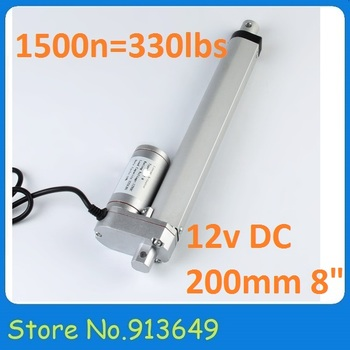 Kecil 200mm/1500N = 150 KG 12vdc Listrik linear aktuator tubular motor, windows kursi motor-1PC