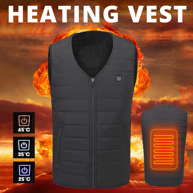 2018 New Motorcycle Jacket Men Women USB Infrared Heating Vest Riding Jacket Moto Autumn Winter Electric Thermal Clothing