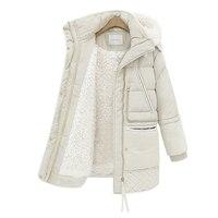 Winter Clothing Thickening Parkas Women 2018 Jacket Female Long 2018 New Winter Lamb Fur Coat Women Winter Coats