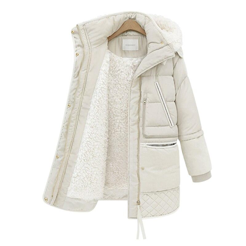 Vêtements d'hiver épaississement Parkas femmes 2018 veste femme Long 2018 nouveau hiver manteau de fourrure d'agneau femmes manteaux d'hiver