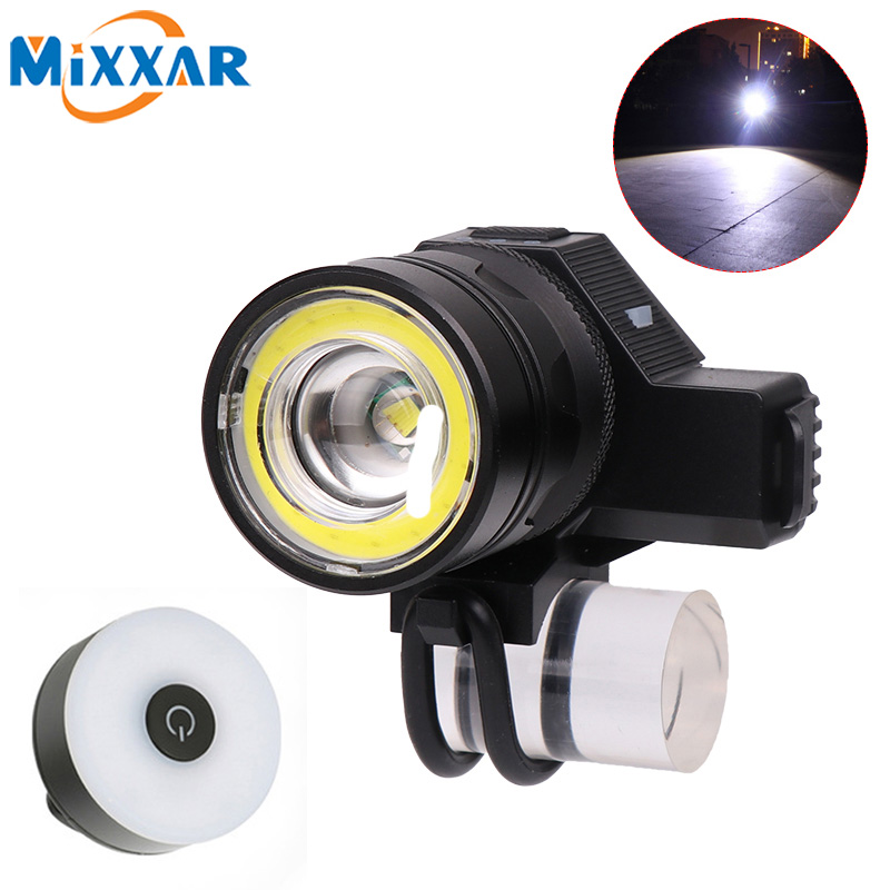 Dropshipping Adjustable High Light Bicycle Headlight USB Charging Lamp 5 Modes T6 + COB LED Bike Head Light Cycling Front Lamp