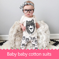3pcs 2017 Fashion Newborn Baby Boys Girls Clothes Spring And Autumn Kids Clothing Cotton Owl Trousers