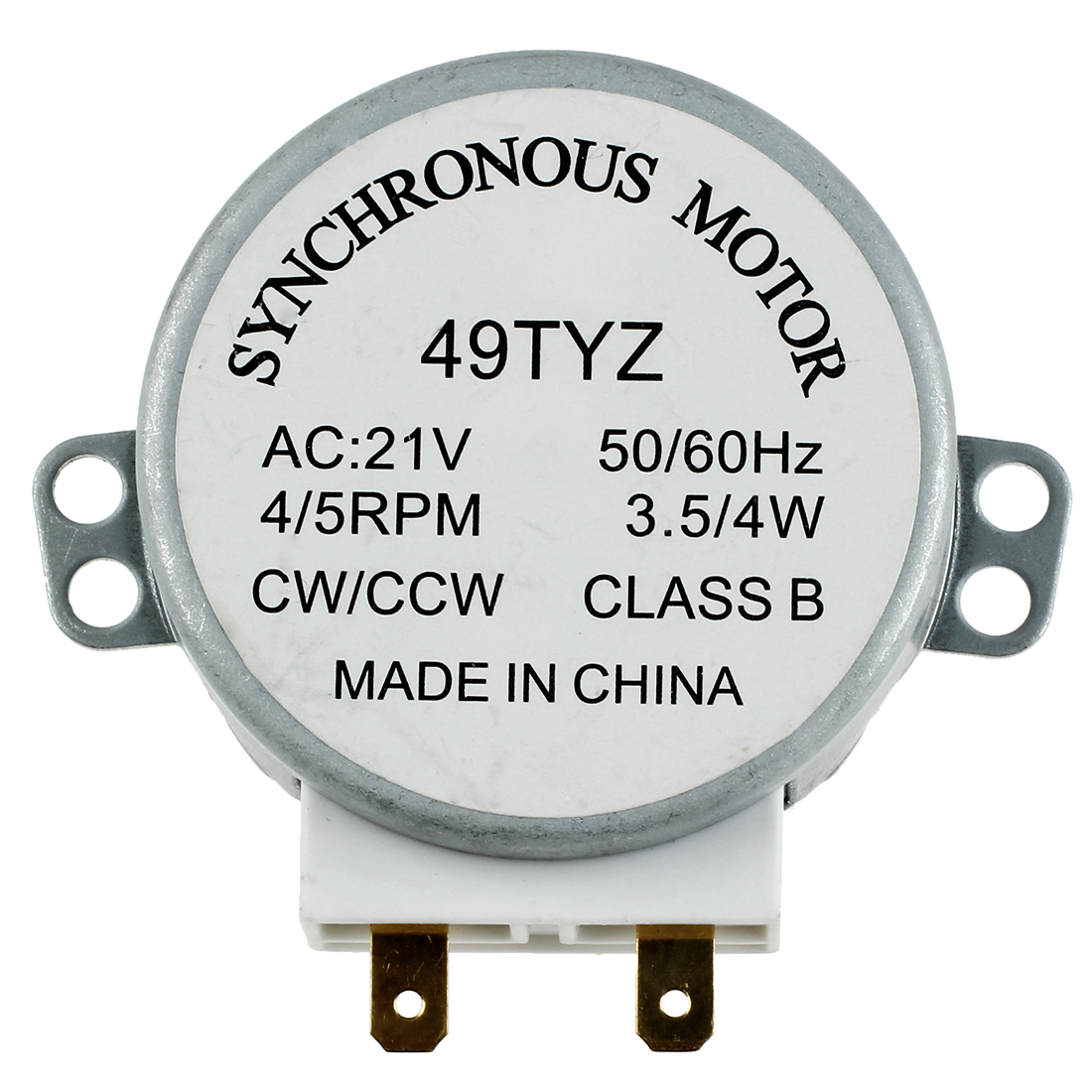 Mini Microwave Oven Turntable Turn Table Synchronous Motor 3W 5/6RPM AC 21V 50/60Hz 4/5 RPM 49TYZ
