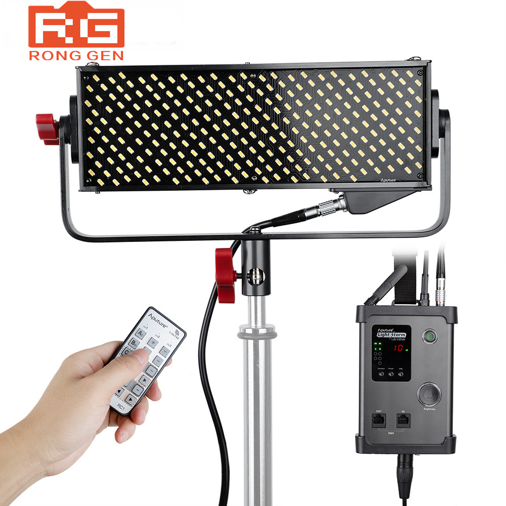 Aputure LED Video Light Storm LS 1/2w CRI95+ 264 SMD Lamp Beads Video Studio Photo Light Panel with V-mount Plate Controller Box aputure vs 1 v screen digital video monitor