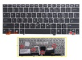 New US Keyboard For HP EliteBook 2170p 2170 laptop Keyboard with silver frame