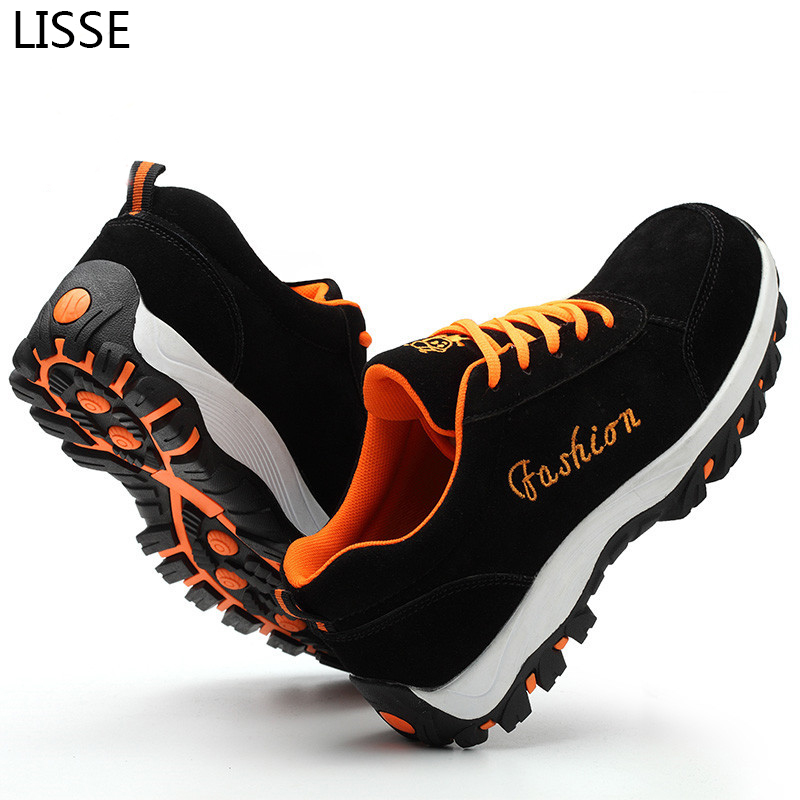 2018 Fashion Lightweight Safety Mens Steel Toe Safety Shoes Moisture-proof Anti-slip Wea ...
