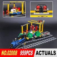 Lepin 02008 959Pcs City Series The Cargo Train Set 60052 Model Remote Control Building Blocks Bricks