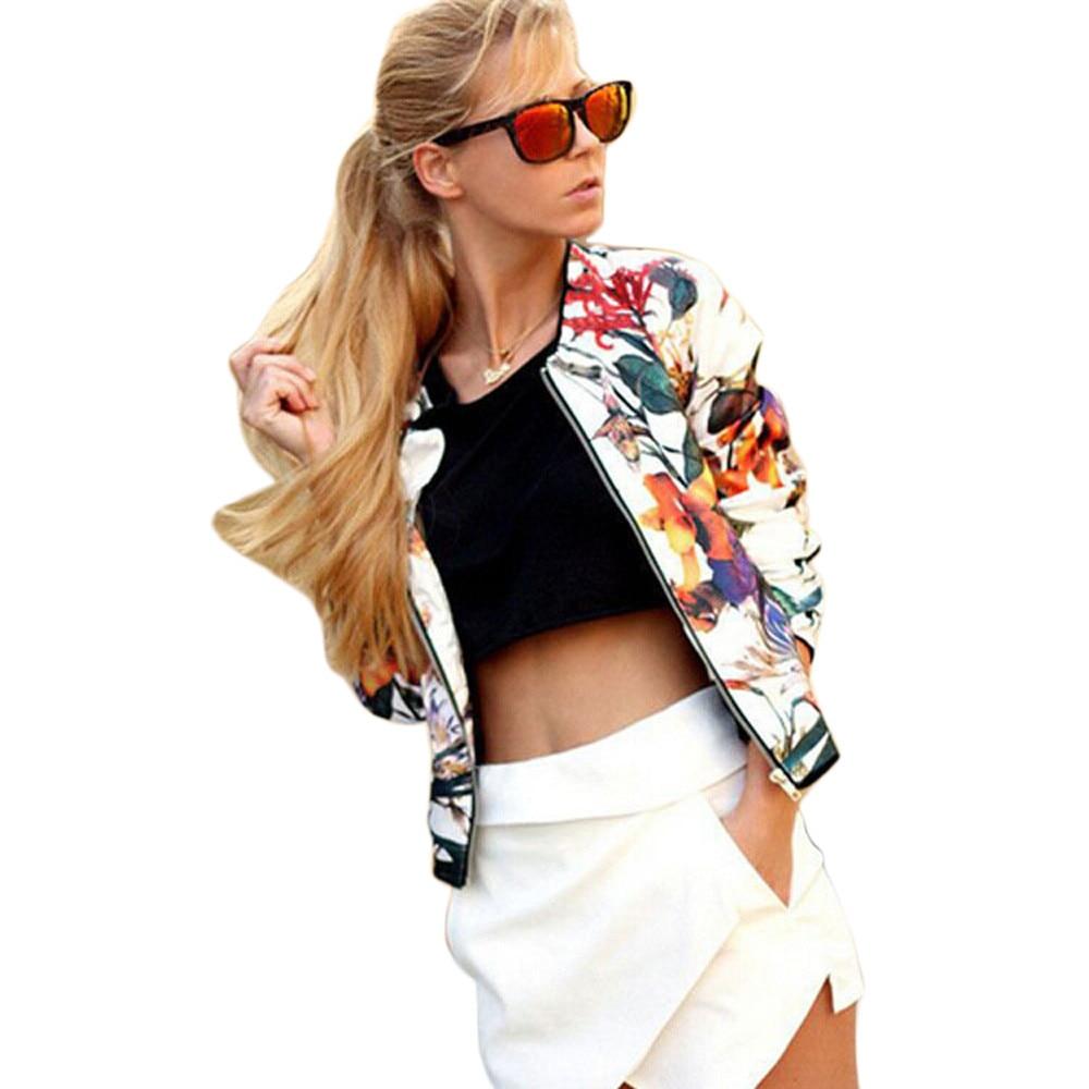 Jaycosin Hot Wonderful 1PC Women women Floral Printed Embroidery Short Jacket Long Sleeve Outwear Drop Shipping Apr 20