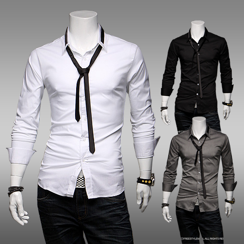 2013 Free Shipping New Men's Casual Slim Stylish Dress Shirts ...