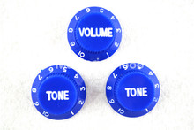 цены на 1 Set of Electric Guitar Control Knobs Blue With White Paint 1 Volume&2 Tone Knobs For ST SQ Electric Guitar  в интернет-магазинах
