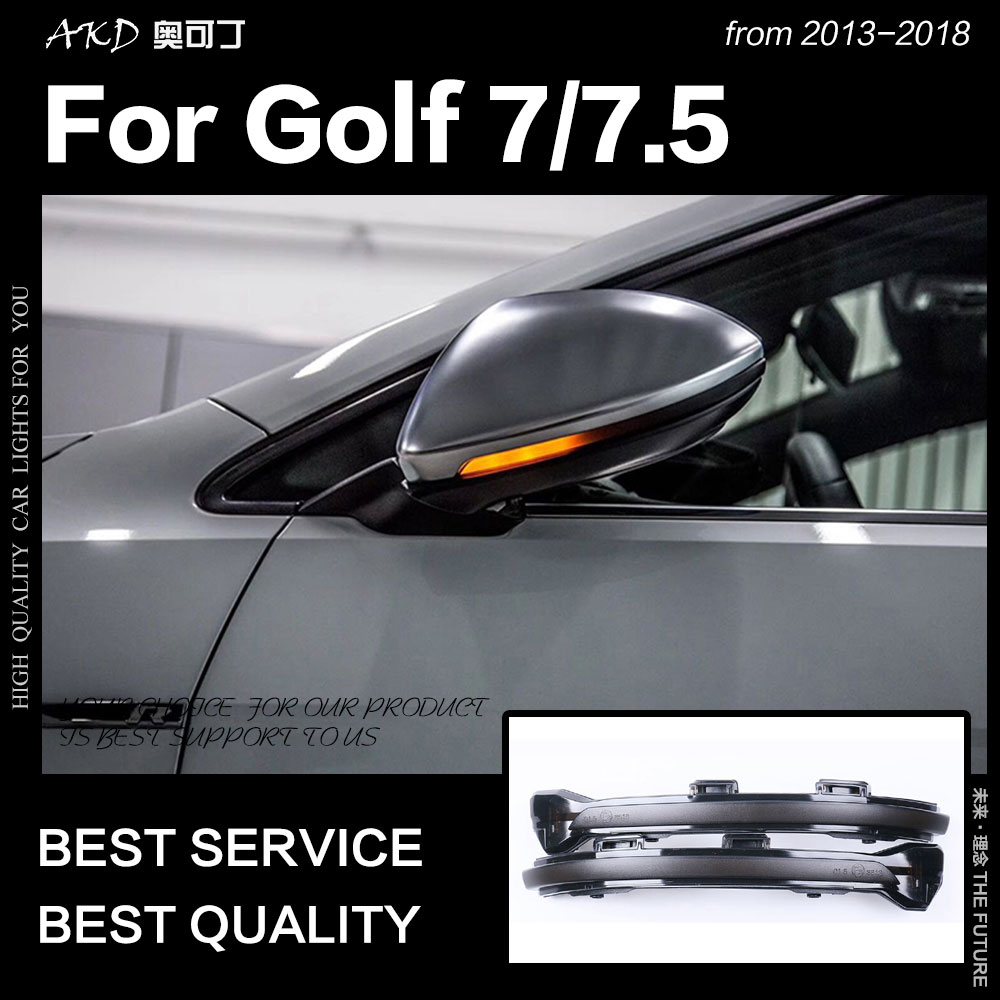 Car Styling LED Mirror Indicator Lamp for Golf 7 LED Turn Signal Volkswagen Golf 7.5 Dynamic LED automobiles auto accessorieCar Styling LED Mirror Indicator Lamp for Golf 7 LED Turn Signal Volkswagen Golf 7.5 Dynamic LED automobiles auto accessorie