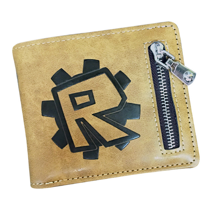 78d758fe9c5 2018 Roblox Gaming Wallet leather men wallets purse short male clutch  leather wallet mens money bag quality guarantee