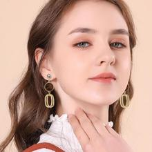 Oorbellen Tin Alloy Vintage Hot Sale Rushed Aretes Pendientes 2019 Fashion Color Plated Big Earrings For Women Drop Jewelry