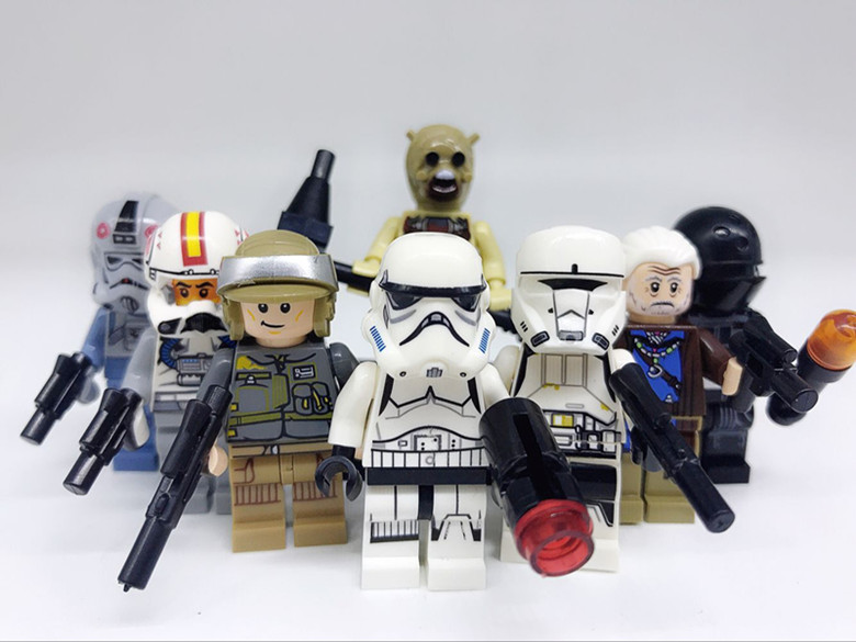 Model Building 80pcs Star Wars Stormtrooper Tusken Raider Figure Lor San Tekka At-at Driver Clone Turbo Tank Compatible Legoingly Blocks Toys Commodities Are Available Without Restriction