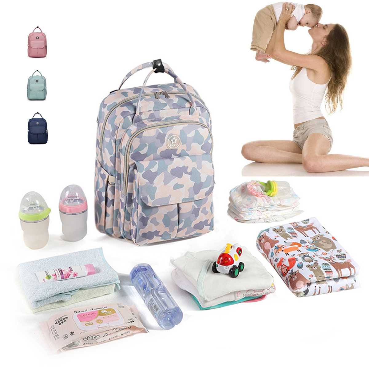 Waterproof Mummy Nappy Bags Fashion Mother Multi-function Backpacks Maternity Diaper Bags Large Capacity Baby Care Nursing BagWaterproof Mummy Nappy Bags Fashion Mother Multi-function Backpacks Maternity Diaper Bags Large Capacity Baby Care Nursing Bag