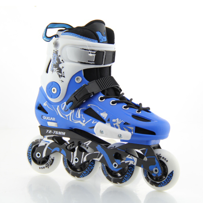 Men Women Inline Skates Blue/Black Roller Skates 4 Wheels Roller Shoes for Adults Slalom Free Skating Patines bauer vapor rh x50r inline skates 4 jr