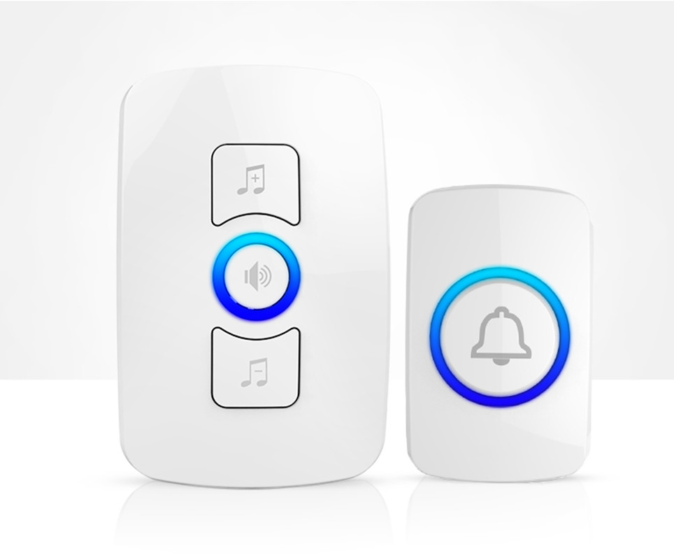2016 NEW Fashion LED Wireless door bell Remote control doorbell Battery Plug UK/US and  European adapter new opportunities uk us