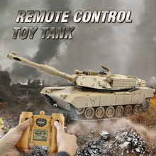 RC Tank 1/28 Remote Control Toys Battle RC Tank M1A2 Automatic Presentation Tanks Via Musical scal Rc Tanks For Kids RTR Gifts