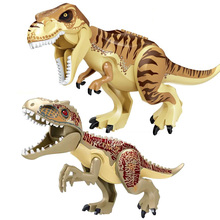 10PCS/LOT Jurassic World 2 Dinosaur New Tyrannosaurus Building Blocks Dinosaur Action Figure Bricks Toys Gift 79151 77001 jurassic world 2 dinosaur tyrannosaurus building blocks dinosaur action figure bricks legoings dinosaur toys gift