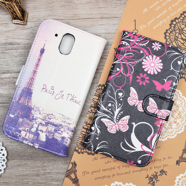 Cartoon Printed PU Leather Case Skin for HTC Desire 526 526G 526G+ 326 326G 626G+ 626s 626g T326E/M7/M8/826/826w/For Desire 620G