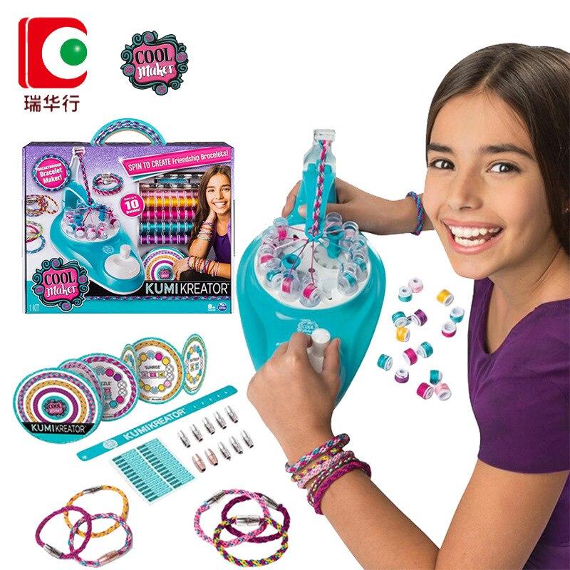 Cool ventilateur tisserand shaker machine à tricoter coloré fille créative main corde bricolage à la main jouets pour enfants