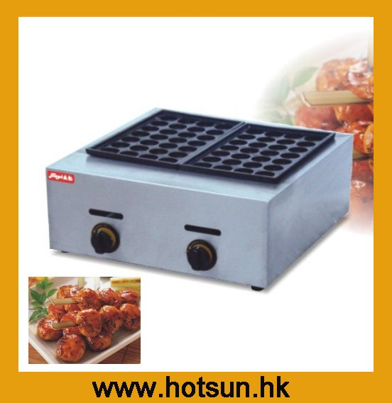 Commercial Non-stick LPG Gas Japanese Takoyaki Octopus Fish Ball Iron Maker Baker Grill Machine free shipping commercial non stick 110v 220velectric 16pcs 4cm japan octopus ball takoyaki grill baker maker machine