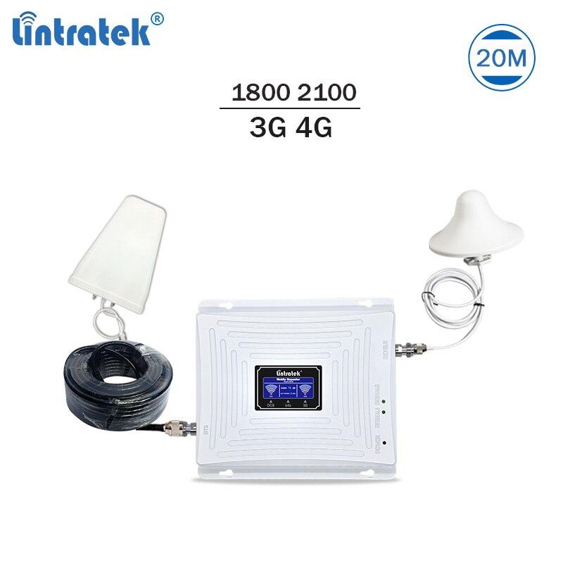 Lintratek Ripetitore Del Segnale 3g Ripetitore 4g LTE Amplificatore 1800 2100 mhz Ripetitore 3g 4g 65dB LTE ripetitore Amplificatore di Segnale Cellulare #7