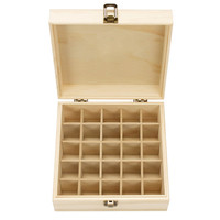 Wooden Storage Box 1pc Carry Organizer Essential Oil Bottles Aromatherapy Container Metal Lock Jewelry Treasure Case 1