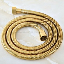Plumbing Hoses Home 1.5m Shower Hose Bathroom Shower Pipe Gold Color Common Flexible Bathroom Water Pipe zhh047 цена в Москве и Питере
