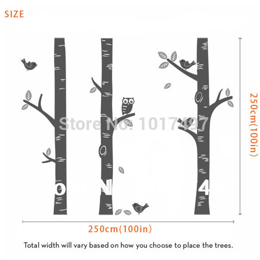 Captivating Free Shipping Oversized Birch Tree Wall Decals Nursery Baby Nurseryroom Art Mural Vinyl Wall Decor Wall Stickers From Home On Free Shipping Oversized Birch Tree Wall Decals Nursery Baby baby Birch Tree Wall Decal