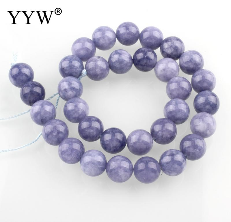 Natural Stone Aquamarines Beads Round February Birthstone Loose Beads 4mm 6mm 8mm 10mm 12mm DIY Necklace Bracelet Jewelry Making