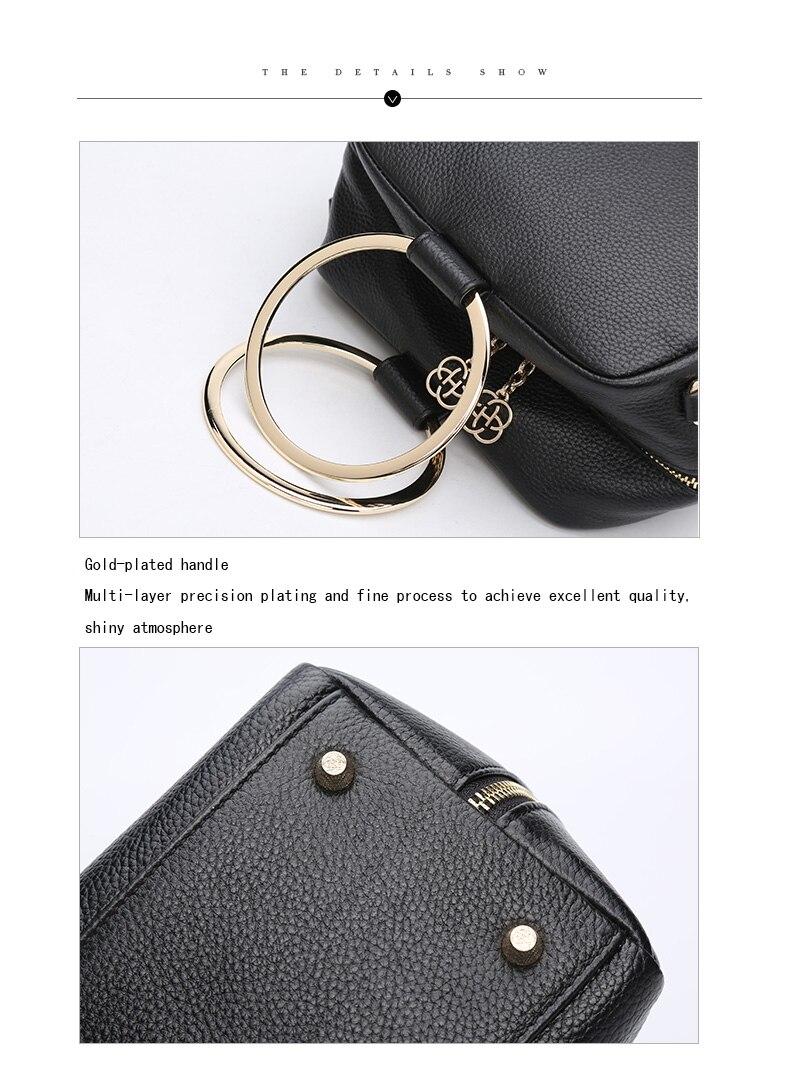 HONGU Luxury Cow Leather Handbags Women Bags Brands Ring Evening Purses Lady Mini Crossbody Shoulder Bags Female Messenger Totes     H5140080992 (12)