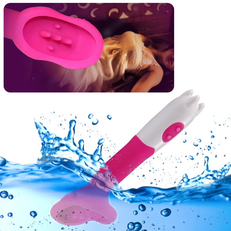 High Quality New 12 Speed Nipple Sucker G Spot Rabbit Vibrator Sex Toy Oral Lick Tongue For Women in Vibrators from Beauty Health