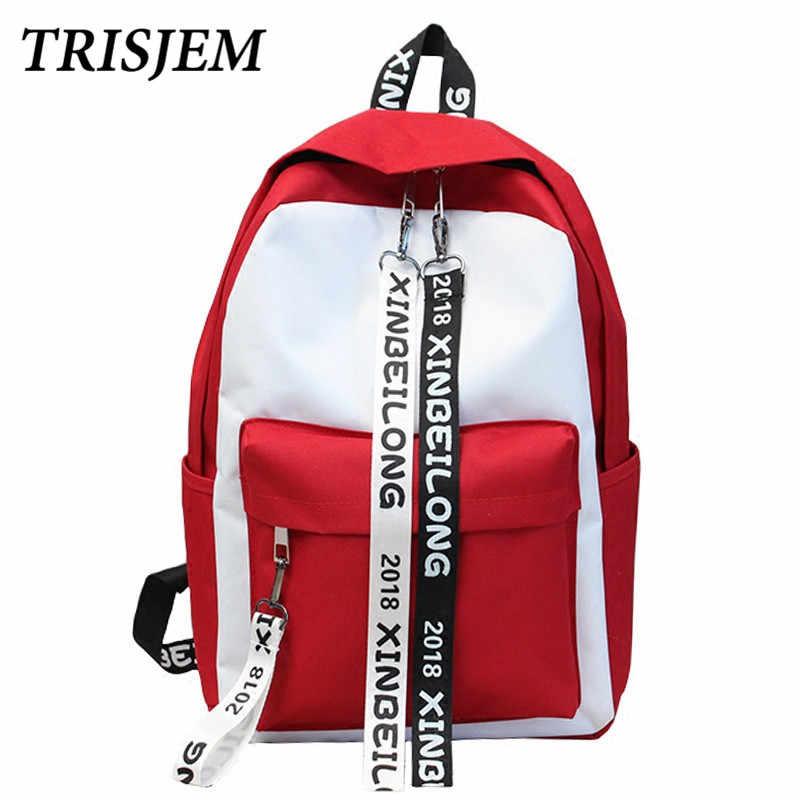 5843574aa098 TRISJEM Ulzzang Backpack Harajuku bag women Canvas Backpack School Back  Pack Female Backpacks For Teenage Girls