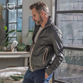 ANDREW MARC Genuine Leather jacket Coat Motorcycle Bomber Slim Spring Autumn Short Thin Fashion Brand Real Leather Coat TM6A1007