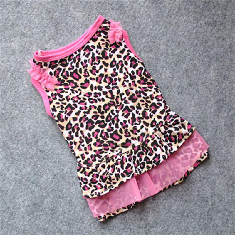 ᓂNuevo lindo perro punto Vestidos patrón de leopardo impreso perro ...