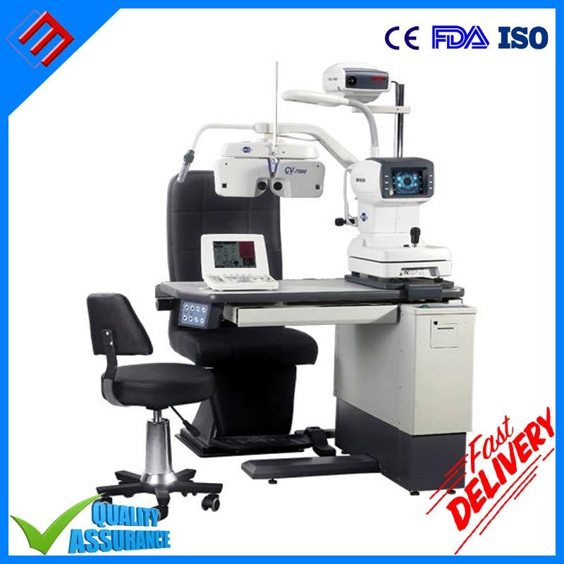 Lámpara de hendidura de prueba de ojo oftálmica Unidad de silla de mesa de refactor automático