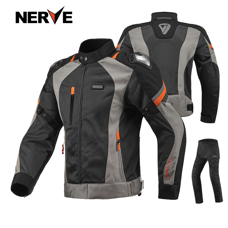 Brand NERVE Sping&Summer Motorcycle Riding Breathable Mesh Suit MOTO Protective Coat Jacket Pants Men & Women Motocross Clothing  brand nerve motorcycle riding breathable raincoat and pants for men and women free shipping summer waterproof suit rain coat