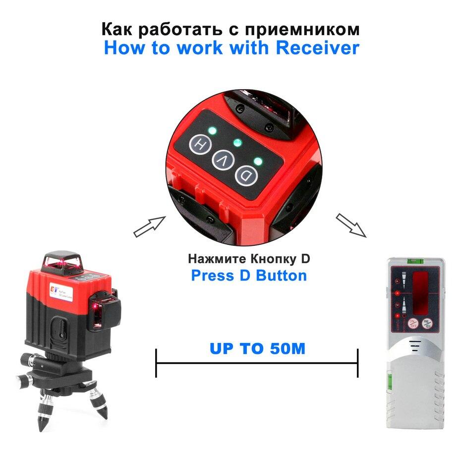 Image 3 - KaiTian 3D Laser Bracket Level 360 12 Lines Self Leveling Cross Vertical&Horizontal Laser 3D Line Lazer Level Construction Tools-in Laser Levels from Tools