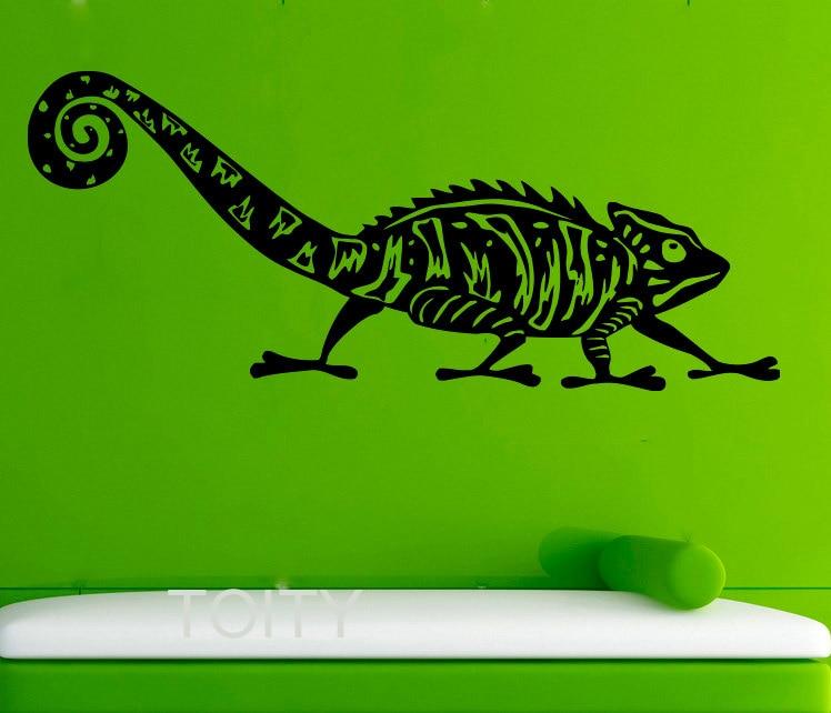 Chameleon Wall Stickers Lizard Vinyl Decals Reptile Animal ...