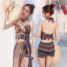 Bikinis for Women 2019 Swimsuit Female Costume Beach Wear Swim Suit Woman Bikini New Three Piece Sexy Korean Print