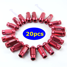 20pcs D1 Spec M12 x 1.5 Racing Lug Wheel Nuts Screw Red 10166 new style for rays wheel nuts iron racing official lug nuts 20pcs lock racing lug nuts wheel screw nuts for honda subaru nissna