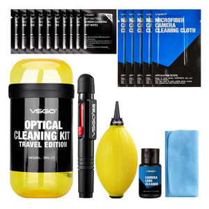 Image 3 - New VSGO 6 In 1 Optical Cleaning Kit Travel Edition With Camera Lens Pen Air Blower Cleaning Cloth Waterproof Bottle.