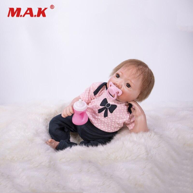 Realtouch mignon BeBe Reborn 18 pouces Silicone souple réaliste Bonecas Adora Reborn filles jouets Basbies poupées lol pour enfants princesse