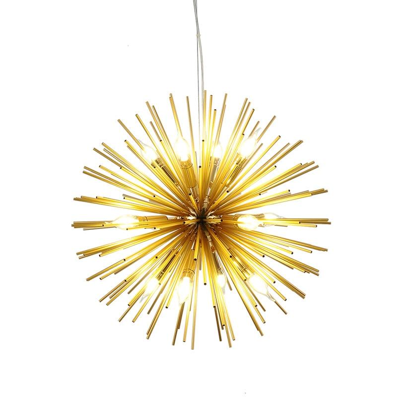 Post modern Dandelion pendant lamp globe gold light Fixture Lamparas E14 LED lamp for Restaurant Living