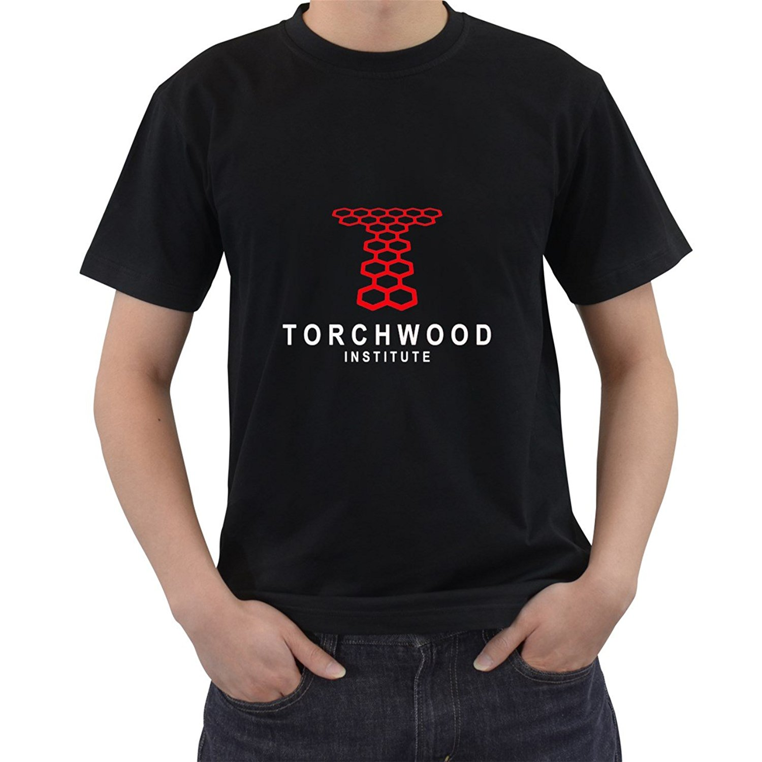 Torchwood Institute Doctor Who Linear Logo T-Shirt Short Sleeve S M L XL 2XL 3XL O Neck T Shirts Male Low Price Steampunk