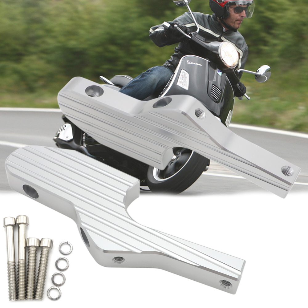 Passenger Foot Peg Extensions Extended Footpegs for Vespa GT GTS GTV <font><b>60</b></font> 125 150 <font><b>200</b></font> 250 300 300ie image